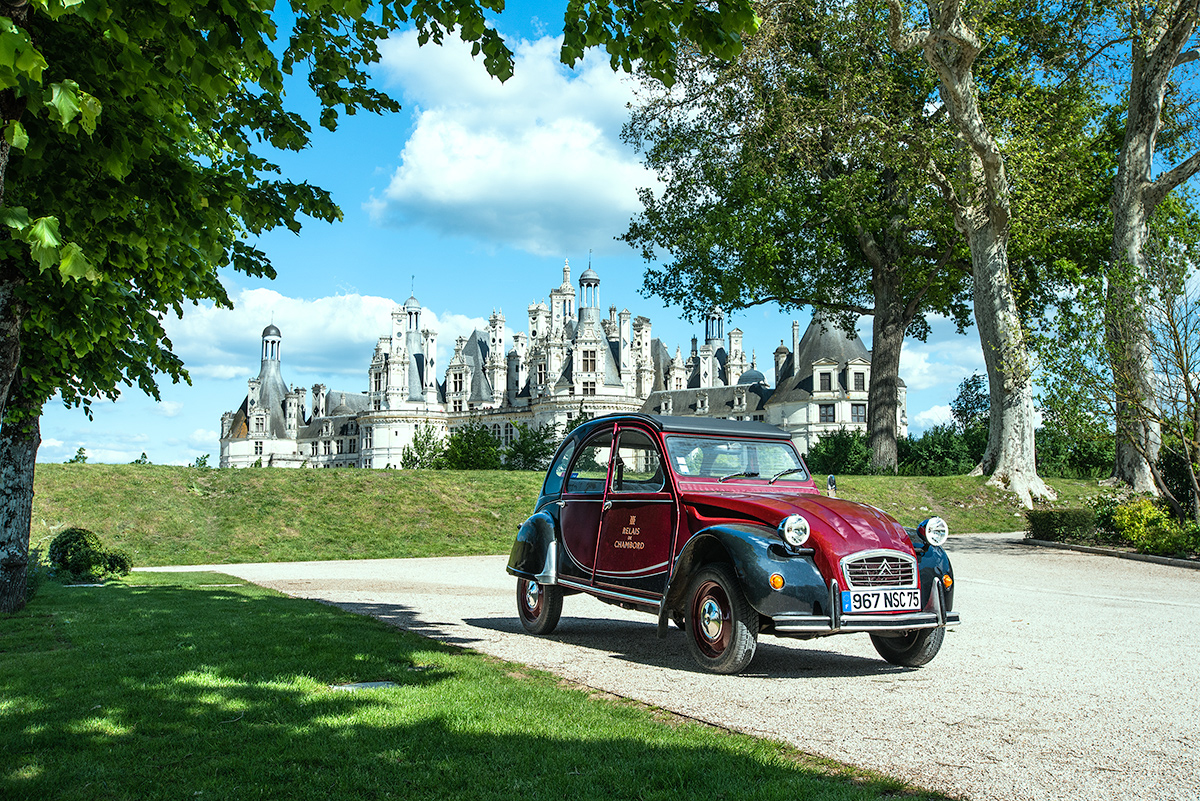 Chambord, Citroen, 2CV, France, Loire, Valley, Tableau_Creative, TableauCreative, tourism, Travel, Travel_Photography,