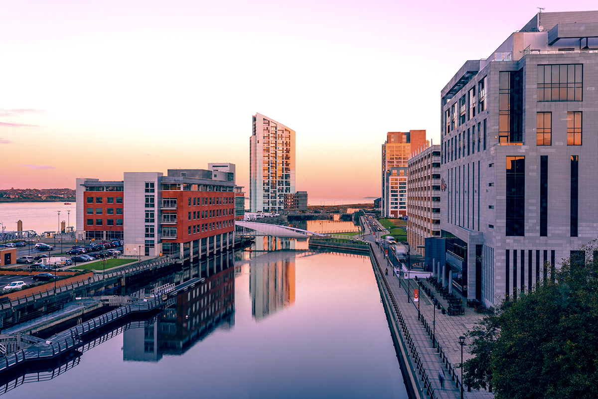 Sunset, Liverpool, Prince'sDock, Water, Reflection, Architecture, Tableau_Creative, TableauCreative,